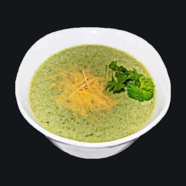 Суп-пюре куриный со шпинатом