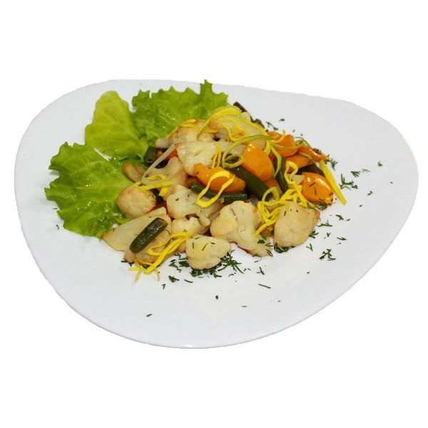 Гарнир из жареных овощей