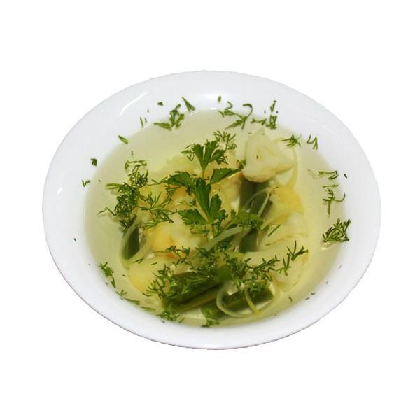 Бульон с овощами